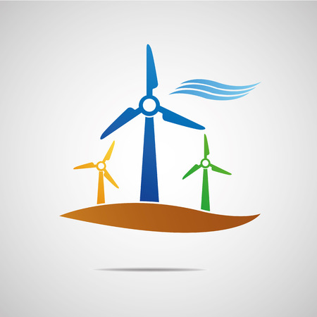 Wind turbine icon Çizim
