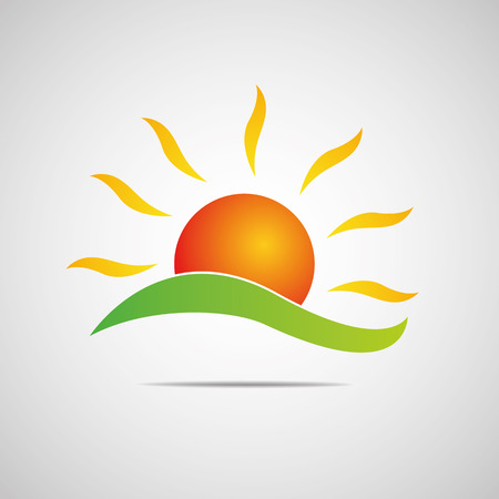 Sun Icon illustration Creative Design Vector