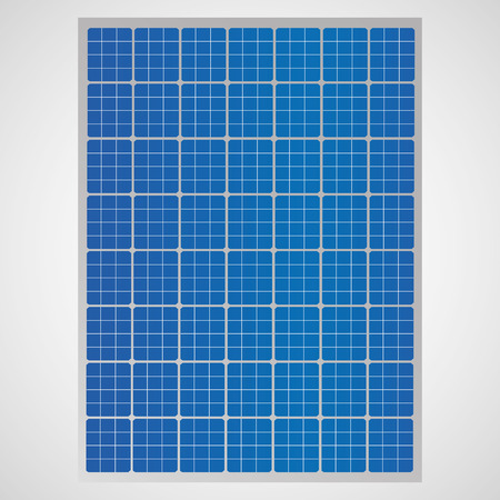voltaic: Solar cell panel for clean energy  Illustration