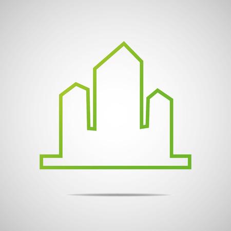 building lot: Eco City Real Estate icon Illustration