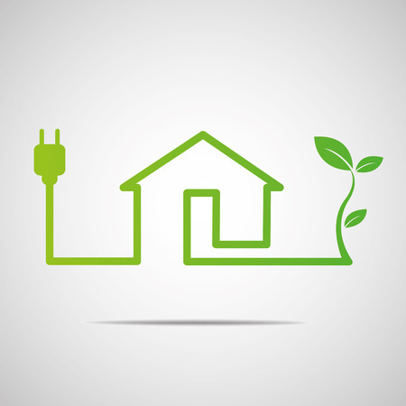 Eco House Real Estate icon Vector