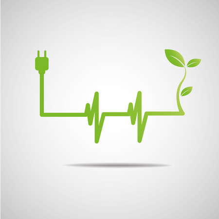 green power eco Vector