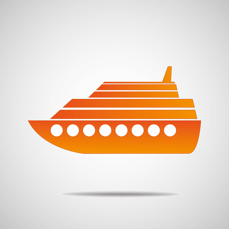 Cruise ship isolated Vector