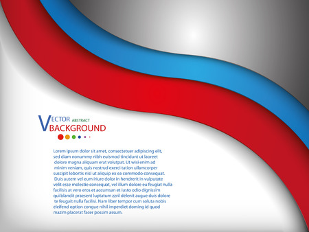 message text: background White ,red blue gray overlap dimension graphic message text design frame line shadow modern web design vector illustration
