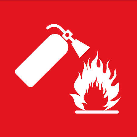 fire extinguisher sign: fire extinguisher
