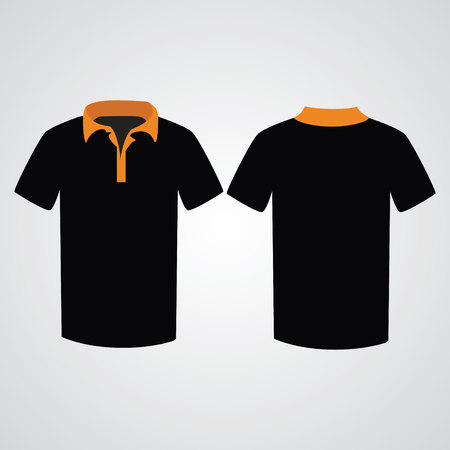 t shirt template: T shirt template. Front and back Illustration