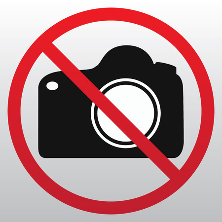 No camera sign icon vector  イラスト・ベクター素材