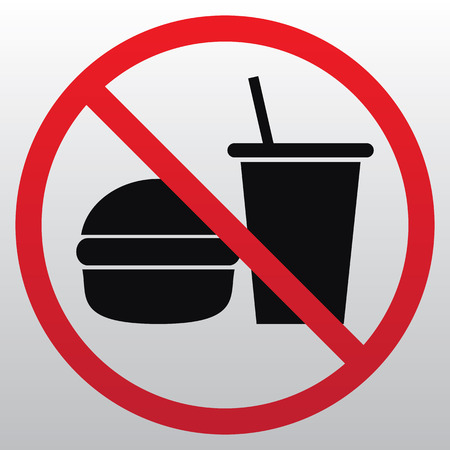 Food and Drink Prohibition Sign