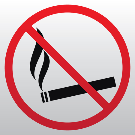No smoking sign vector illustration on light background.