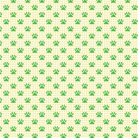 be green: patterns seamless dog footprints  background. for web design.texture can be used for wallpaper, web page background. green colors.