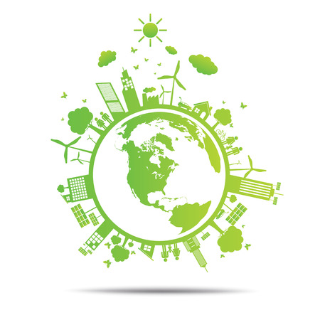 sustainable energy: world Green ecology City environmentally friendly .