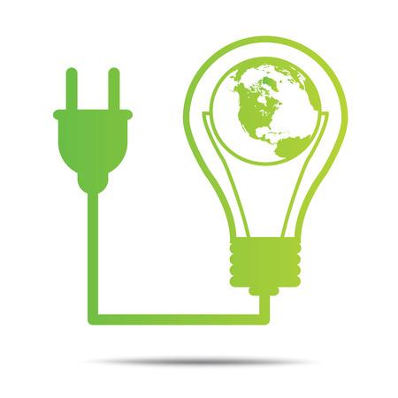 environmentally: power green concept bulb ecology City environmentally friendly  .