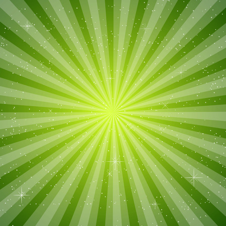 Green sun ray vector, pace for your text background