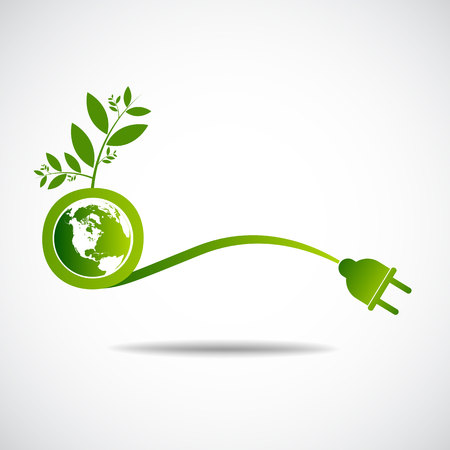 economize: Ecology green save  earth concept Illustration