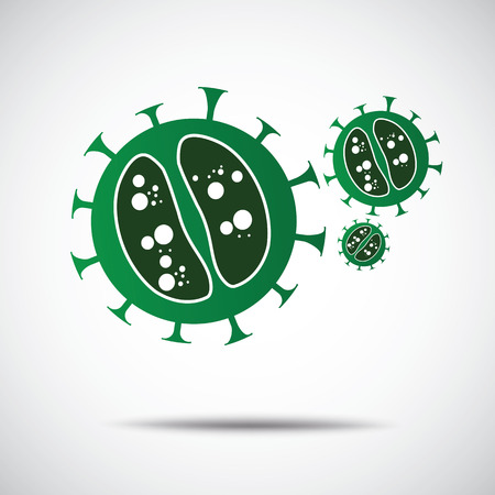 virus bacteria: Virus and Bacteria icons