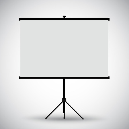 blank screen: Projector blank screen Illustration