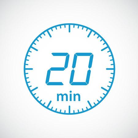 timekeeper: Set of timers 20 minutes Vector illustration
