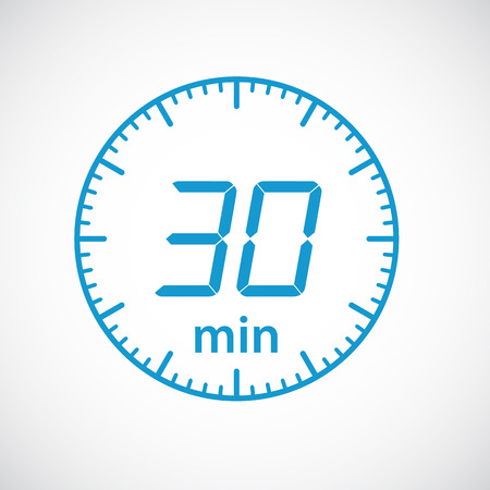 minutes: Set of timers 30 minutes Vector illustration