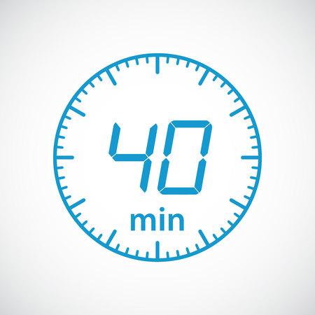 estimation: Set of timers 40 minutes Vector illustration Illustration