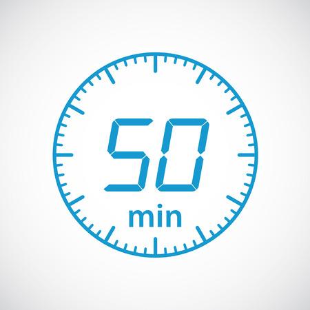 timekeeper: Set of timers 50 minutes Vector illustration
