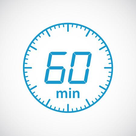 timekeeper: Set of timers 60 minutes Vector illustration Illustration