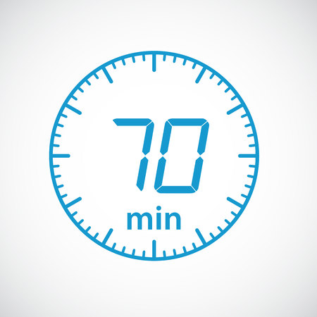 minutes: Set of timers 70 minutes Vector illustration