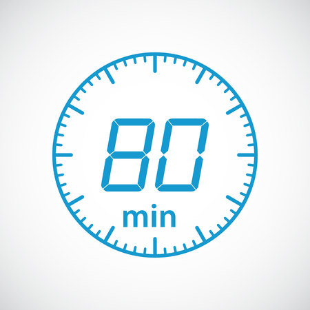 estimation: Set of timers 80 minutes Vector illustration