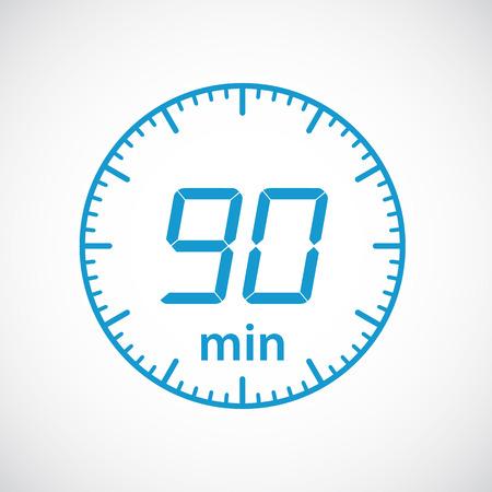 Set di timer 90 minuti Vector illustration Vettoriali
