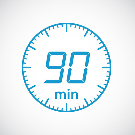 minutes: Set of timers 90 minutes Vector illustration