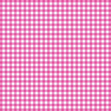 ピンクの背景のベクトル ギンガム チェック パターン。