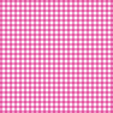 Vector gingham pattern in pink background. Ilustrace