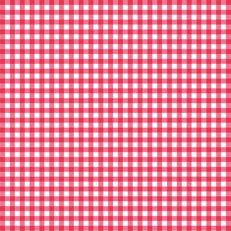 Vector gingham pattern in red background