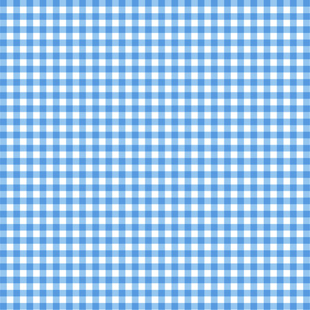 Vector gingham pattern in blue background Stock Illustratie