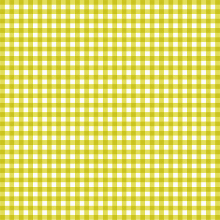 Vector gingham pattern in yellow background Illustration