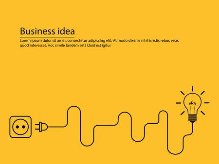 創造的なインスピレーション概念ビジネス考え  イラスト・ベクター素材