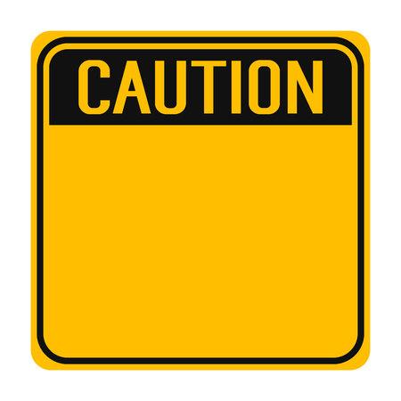 Caution Yellow Sign Ilustrace