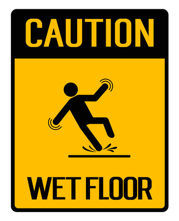 to warn: Caution Yellow Sign Illustration