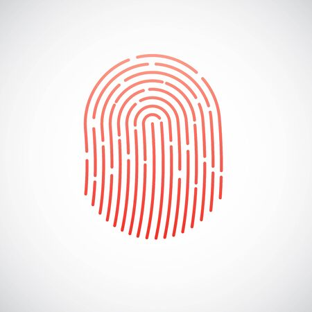 Fingerprint vector icon illustration isolated on white background