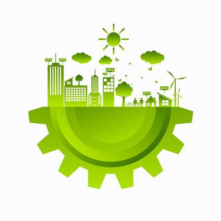 World Green ECO City  イラスト・ベクター素材