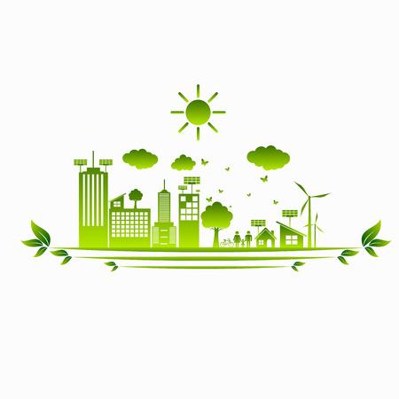 World Green ECO City Ilustrace