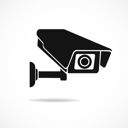 Cctv camera isolated on white background