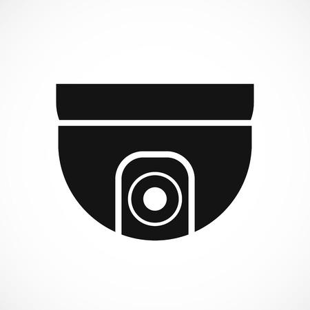 Cctv camera isolated on white background