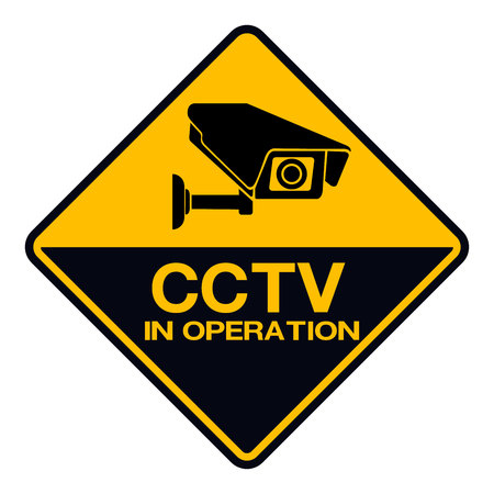 Video surveillance sign. CCTV Camera. Black vector isolated Illustration