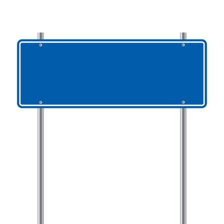 sign road blue Blank  vector illustration Vectores