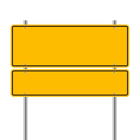 sign road yallow Blank  vector illustration