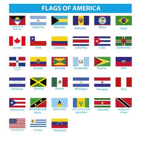 Flag of Americas Vektorové ilustrace