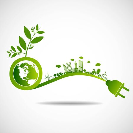 Ecology green save earth concept