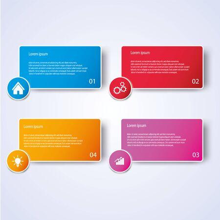 Style d'infographie d'entreprise Illustration vectorielle Vecteurs