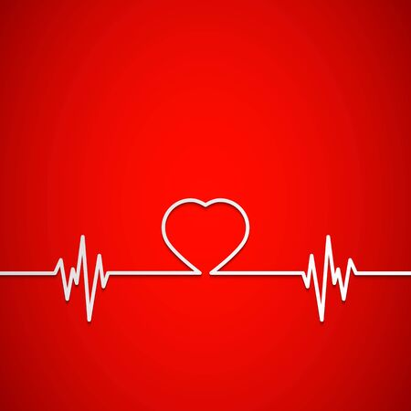 heart shape as background for medical Vector Illustration