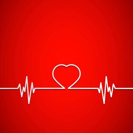 kształt serca jako tło dla medycyny Ilustracje wektorowe